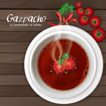 directly above: gazpacho