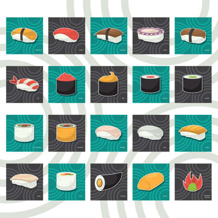 uni: set of sushi