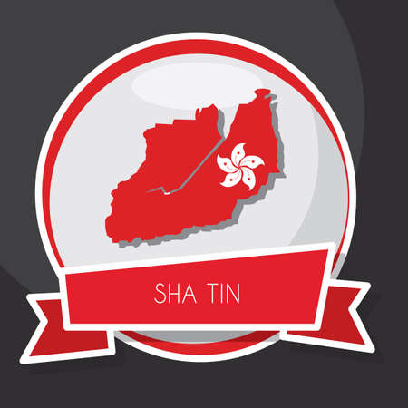 sha: sha tin map Illustration