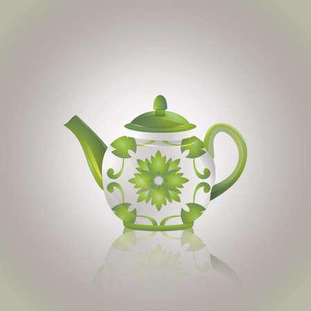 crockery: teapot Illustration