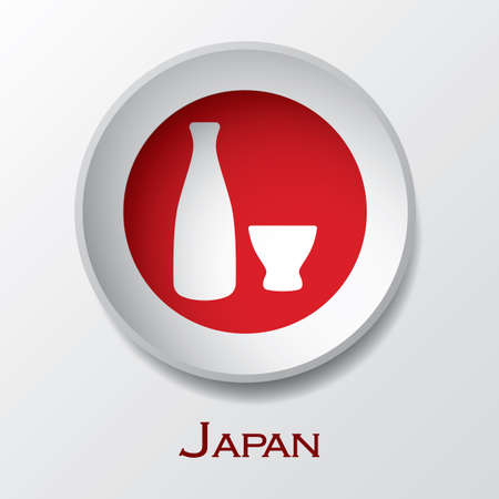 sake bottle and cup