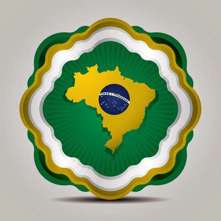 brazil map: brazil map icon Illustration