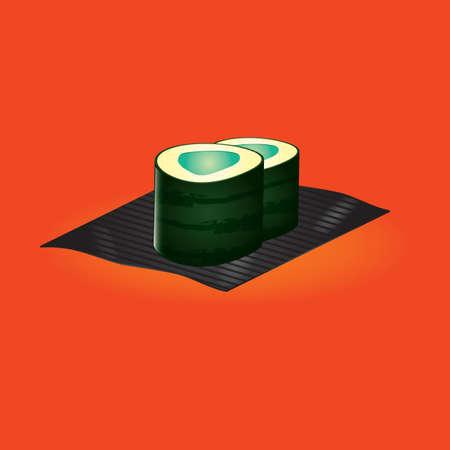 maki: sushi maki roll