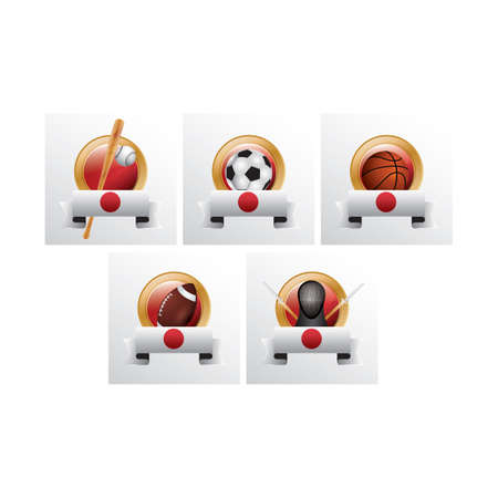 costume ball: collection of sport icons