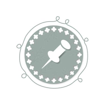 tacks: thumb pin icon Illustration