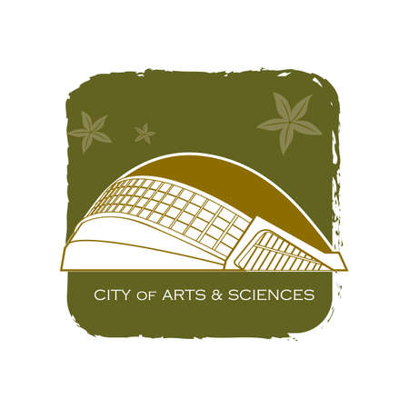 sciences: city of arts and sciences Illustration