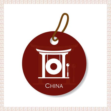 lanna: china tag Illustration