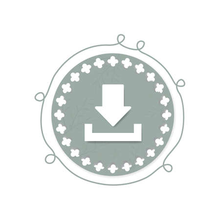 download icon: download icon Illustration