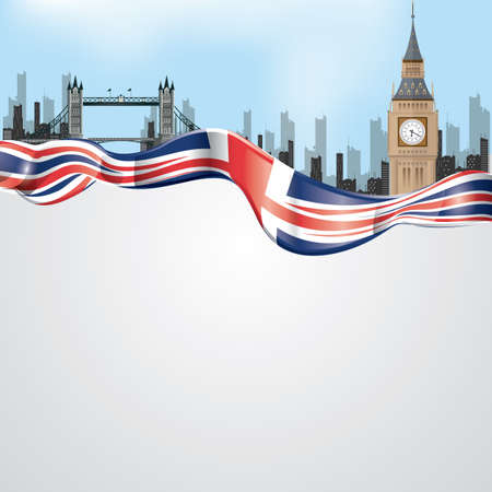 thames: united kingdom wallpaper Illustration