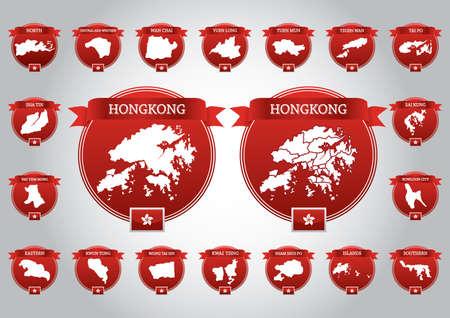hong kong district maps