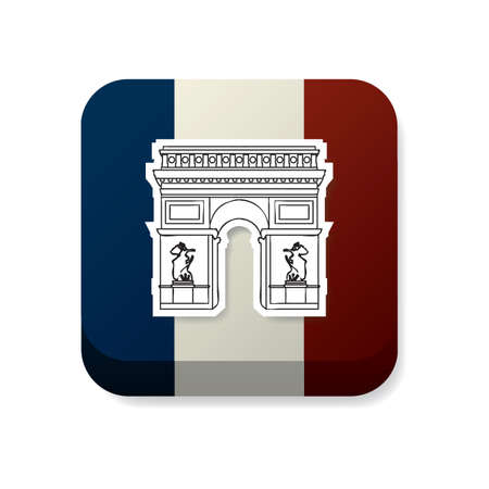 bandera francia: Arco del Triunfo en Francia la bandera