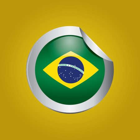 brazil flag: brazil flag sticker