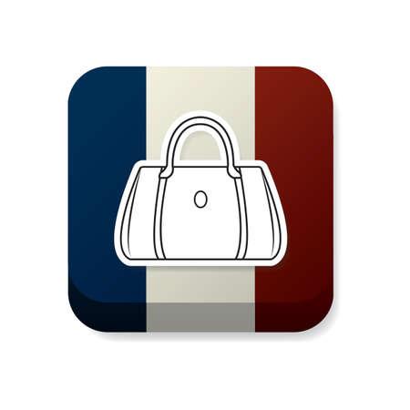 france flag: handbag on france flag