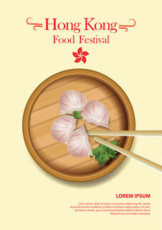 copy paste: hong kong food festival poster Illustration