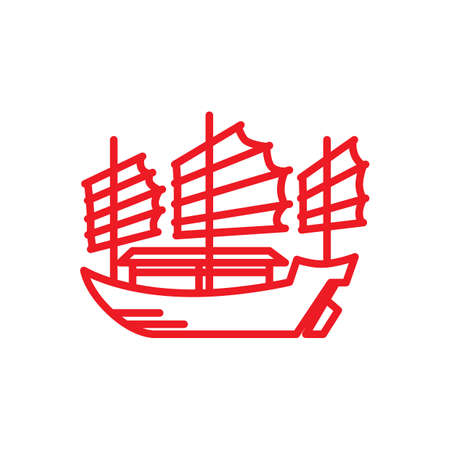 junk boat Stock Vector - 49749915
