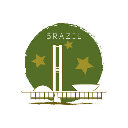 national congress: national congress of brazil Illustration
