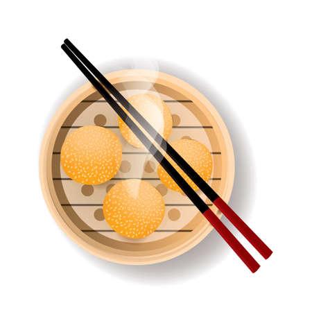 sesame: sesame balls