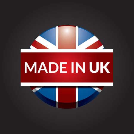 bandera reino unido: hecho en icono de la bandera del Reino Unido Vectores