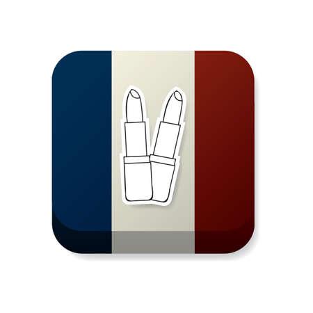bandera francia: l�pices labiales en Francia la bandera Vectores