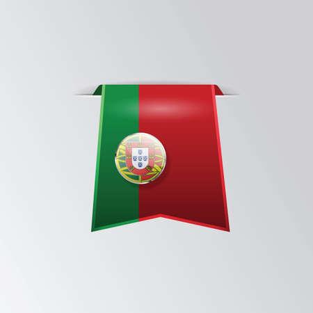 banneret: portugal flag pennant Illustration