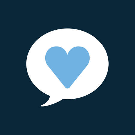 favorite: chat bubble with favorite icon