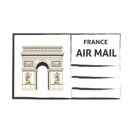 by mail: france air mail