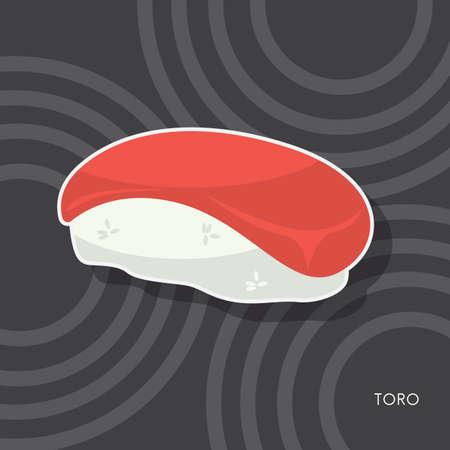 toro sushi Illustration