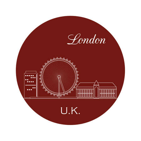 millennium: london eye Illustration