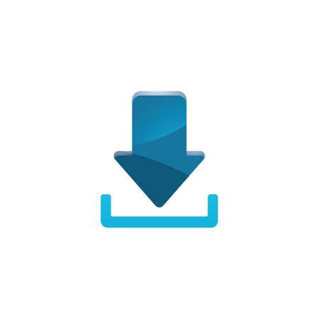 the icon: download icon Illustration