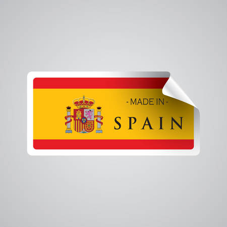 made in spain: made in spain sticker Illustration