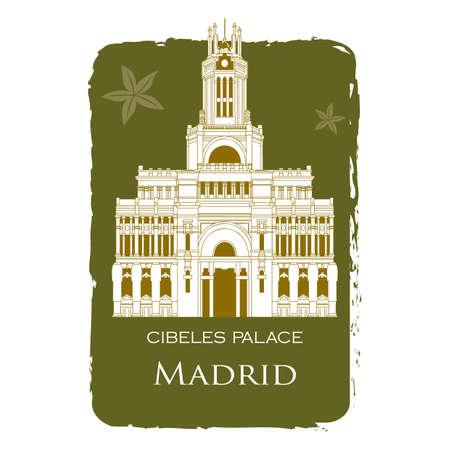 cibeles: cibeles palace Illustration
