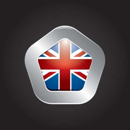 bandera uk: icono de la bandera del Reino Unido