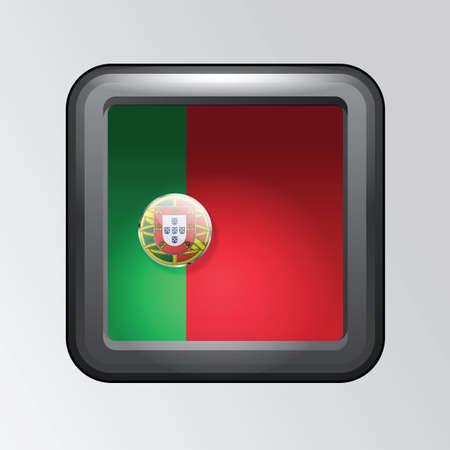 drapeau portugal: portugal, drapeau, bouton