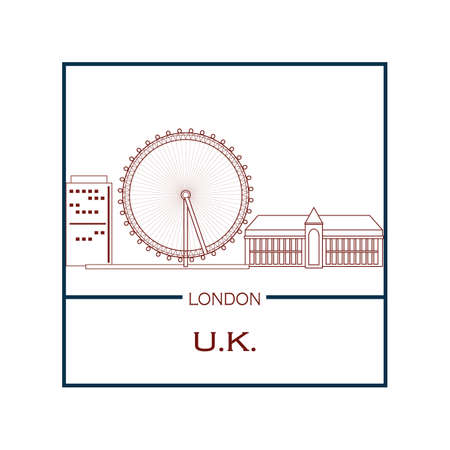 millennium wheel: london eye Illustration