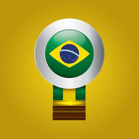 brazil flag: brazil flag badge