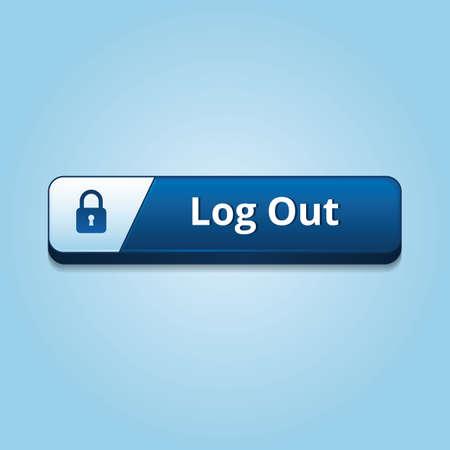 log on: log out button Illustration