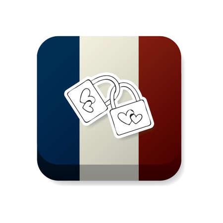 bandera francia: cerraduras en Francia la bandera
