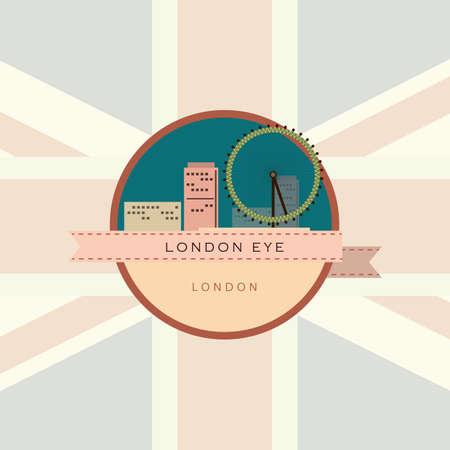 london eye: london eye Illustration