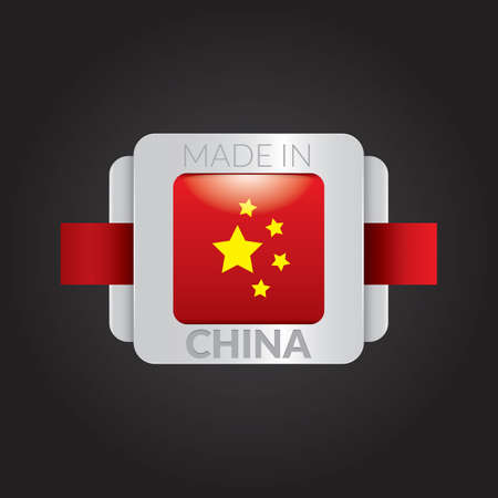made in china flag label