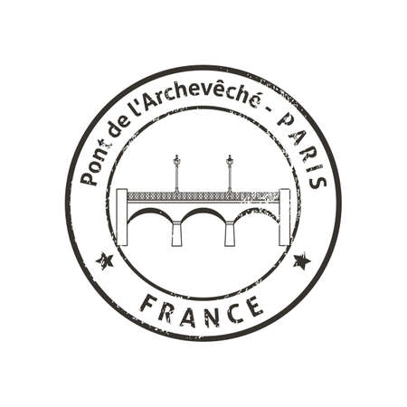 Pont de l'Archevêché Stock Illustratie