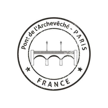 pont de larcheveche Illustration