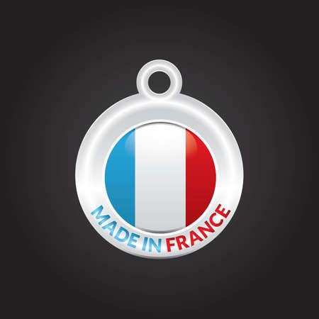manufactured: made in france Illustration