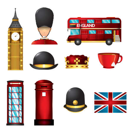 set of united kingdom icons