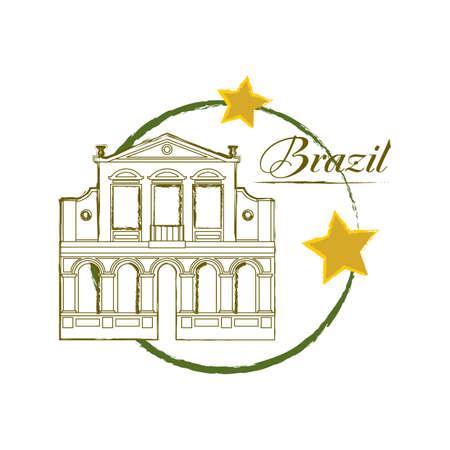 famous place: o teatro da paz Illustration