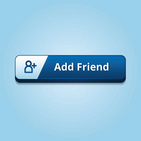 add button: add friend button Illustration