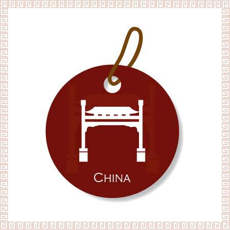 po: china tag Illustration