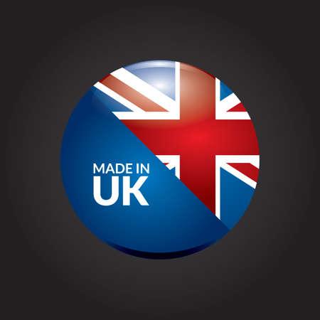 uk: made in uk flag icon Illustration