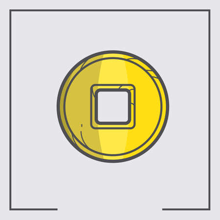 gold coin: japanese gold coin Illustration