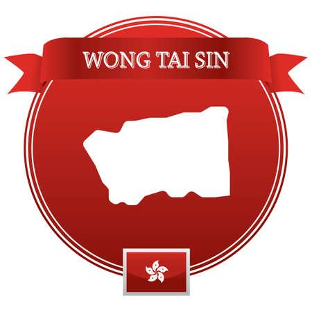 sin: wong tai sin map Illustration