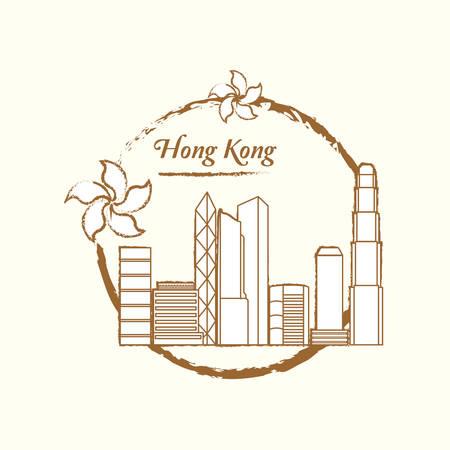 hong kong city: hong kong city skyline